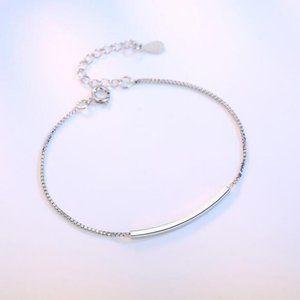 NEW 925 Sterling Silver Simple Bar Bracelet